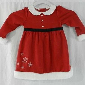 New Gymboree Red Santa Christmas Dress 12 18 Month